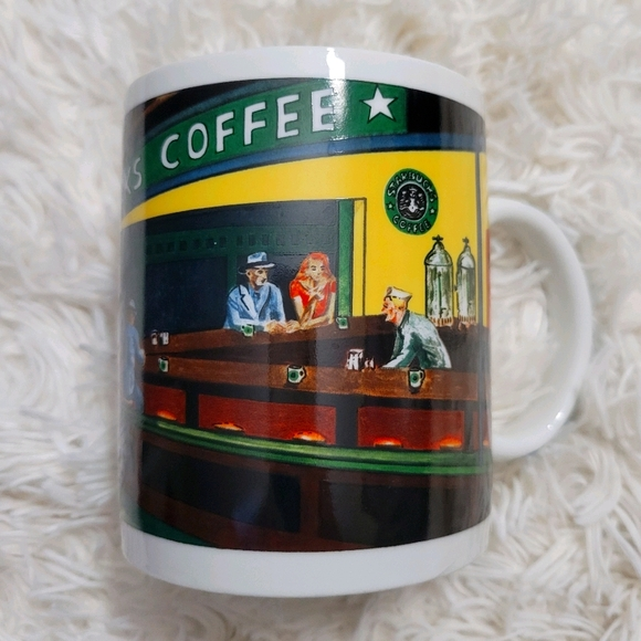 Starbucks coffee mug by Chaleur Nighthawks Diner